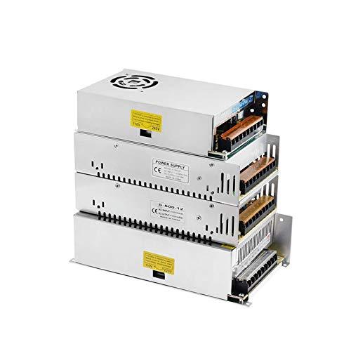 XIAOFANG Fuente de alimentación DC 12V 24V 10A 20A 25A 30A 33A 40A 16.5A Fuente de alimentación de conmutación Volt 220V a 12V AC-DC SMPS 110V Ajuste para Impresora 3D (Size : DC 12V 40A)