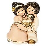 THUN® - Coppia di Spose con Cuore Lei+Lei - Regalo o Bomboniere di Matrimonio - Ceramica - Linea I Classici