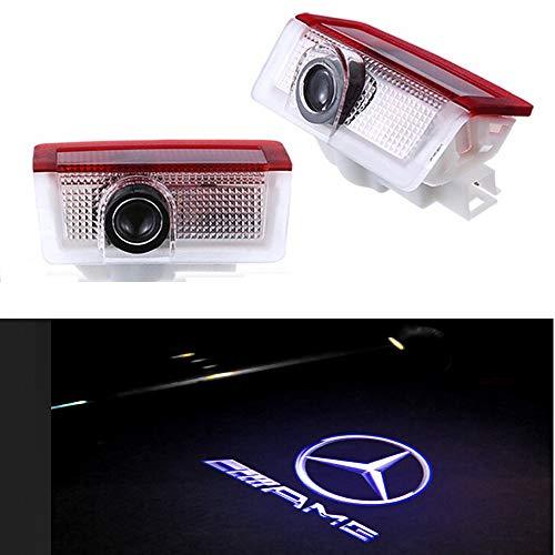 znystar 2pcs LED Car Logo Puerta Fantasma sombra luz proyector ...