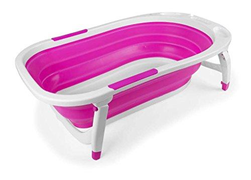 Danielstore - Bañera plegable bebe Color rosa