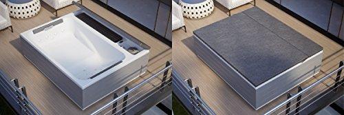 Dafne Italian Design Minipiscina de exterior Spa Loft con paneles (200 x 160 cm)