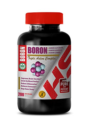 Boron glycinate - Boron aspartate - Boron Citrate - Boron Triple Action Complex - Metabolism Booster for Weight Loss - Immune Booster - 1 Bottle 200 Capsules