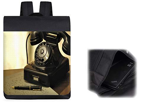 MOCHILA VINTAGE TELEFONO RETRO SIGLO 19 backpack rucksak