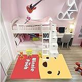Carpet Children Rugs Rectangular Livingroom Bedroom Bedside Cartoon Anime Winnie The Pooh Baby Crawling Mat Home Floor Decoration Anti-Slip