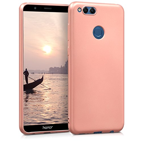 kwmobile Huawei Honor 7X / Mate SE Hülle - Handyhülle für Huawei Honor 7X / Mate SE - Handy Case in Metallic Rosegold