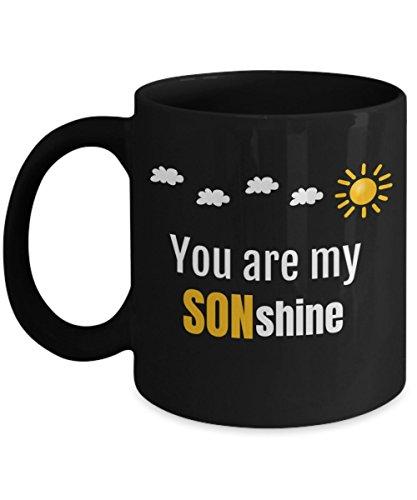 INTOMYZ Clever Sunshine Pun Birthday Cup to Son from Mom - Black Ceramic Coffee Tea Mug 11 Oz