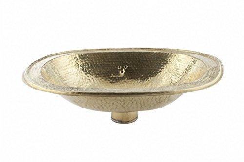 Große ovale Kupfer handgefertigtes marokkanisches Bad - Waschbecken- gehämmert & eingraviert - L39 W29 H14 cm -