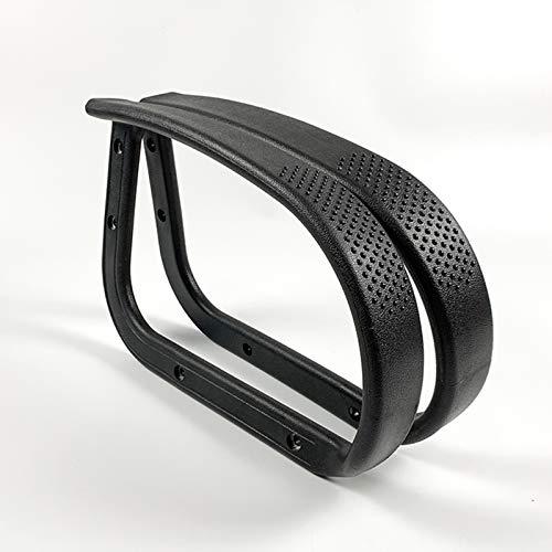 Reemplazo de la silla de oficina de los reposabrazos de plástico, reposabrazos de reemplazo de 40.5 * 27 cm, repuesto de repuestos Silla de oficina Reposabrazos, soporte de apoyabrazos un par,Negro