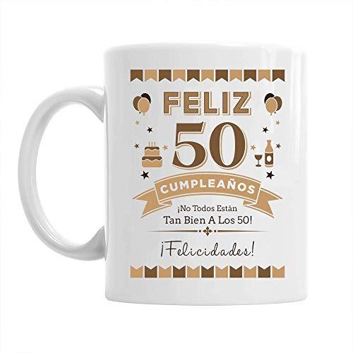 Design, Invent, Print! Taza de 50 cumpleaños - para Hombre - como Regalo Divertido o Recuerdo - Blanco - 295ml (10 FL oz)