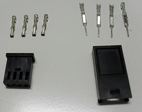 Kit Connettore E Terminale Tyco Modu 2 Maschio Femmina 4 Vie X Cavo 0,12-0,5
