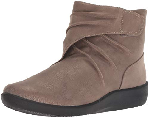 Clarks Women's Sillian Tana Fashion Boot, Pewter Synthetic, 080 M US