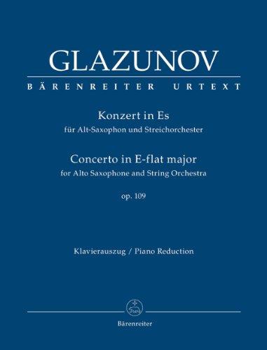 Konzert für Alt-Saxophon und Streichorchester Es-Dur op. 109