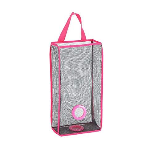 shentaotao 1pc Breathable Ineinander Greifen Hängende Küche Müllsack Lagerung Packtasche Einkaufstasche Red