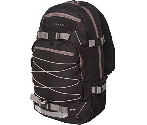 Forvert Backpack Ice Louis - Mochila, color negro (negro / gris), talla 50.5 x 26.5 x 12 cm