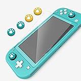 Lammcou Kit protezione schermo per Nintendo Switch Lite, protezione schermo in vetro temperato 9H e tappi per joystick e custodia per scheda di gioco per Nintendo Switch Lite (2019) Accessories Kit