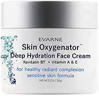 Evarne Skin Oxygenator Deep Hydration Face Cream with Revitalin BT, Vitamin A and E. Sensitive Skin Formula. For healthy radiant complexion. Super-hydrating, firming, ultra-silky daily moisturizer.
