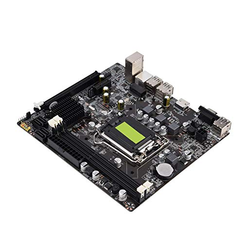 H61 LGA 1155 Motherboard,Solid State Motherboard Support VGA + HDMI Dual Output,Computer Motherboard B Model Support DDR3 Memory 4 USB2.0
