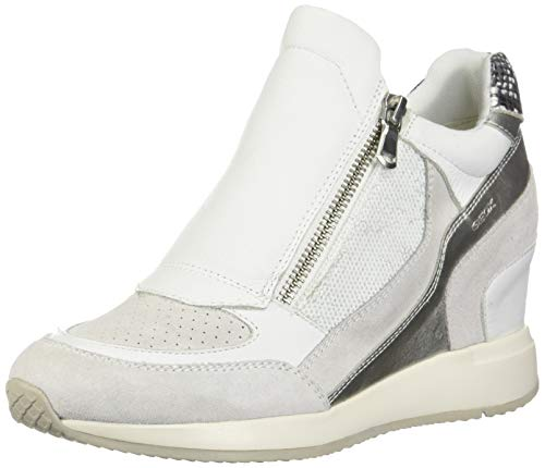 Geox Damen D Nydame a Hohe Sneaker, Weiß (White C1000), 37 EU