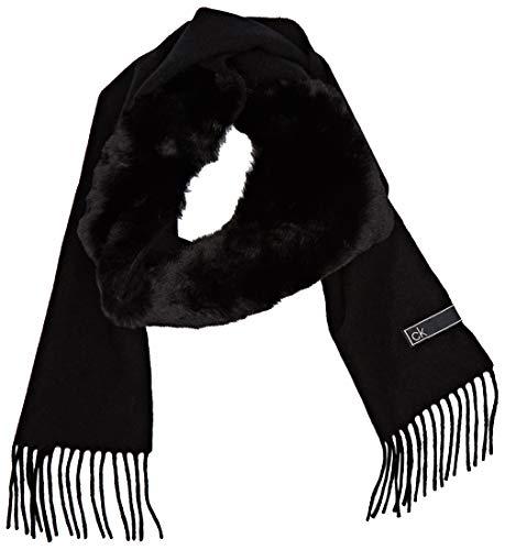 Calvin Klein K60k606175 conjunto bufanda, gorro y guantes, Negro (Black Bds), One Size para Mujer