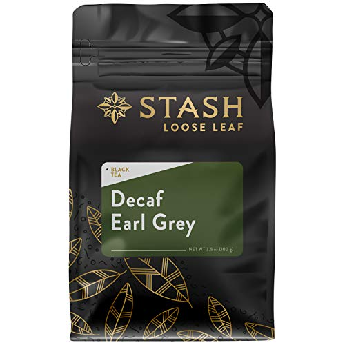 Stash Tea Decaf Earl Grey Loose Leaf Tea 3.5 Ounce Pouch (Packaging May Vary) Loose Leaf Premium...