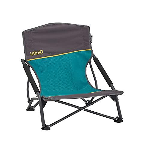 Uquip Sandy Portable Outdoor Beach Chair (Grey/Blue)