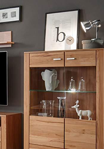 Wohnwand – Holzdekor Buche, massive Anbauwand kaufen  Bild 1*