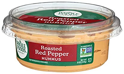 Whole Foods Market, Roasted Red Pepper Hummus, 8 oz