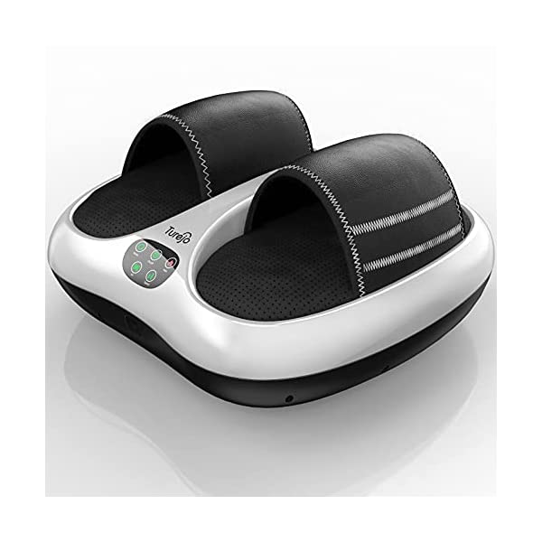 Foot Massager, Turejo Foot Massager Machine with Heat and Vibration, Shiatsu Deep Kneading, Air Compression and Soothing…