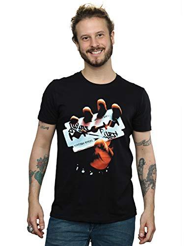 Absolute Cult Judas Priest Hombre British Souls Camiseta Negro Small