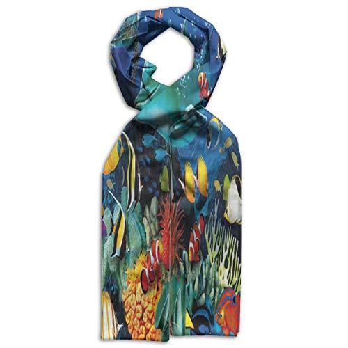 Kids Scarf Ocean Fish Neckerchief Winter Warm Bandelet For Girls