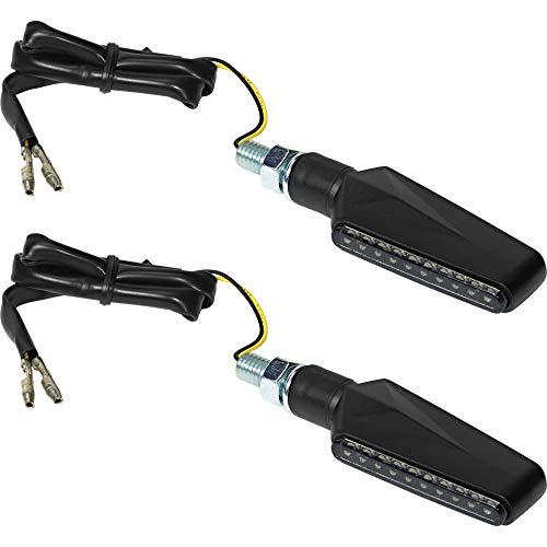 IXS X-LED Blinker // LED Motorrad Blinker Sequentiell Laufeffekt Schwarz Getönt // QUAD ATV HARLEY CUSTOM CRUISER ROLLER SCOOTER