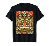 Aztec Mayan Incan Latin American god and monster Face T-Shirt