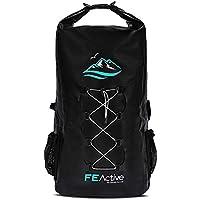 FE Active Mochila Impermeable Dry Bag - 30L Eco para Hombres y Mujeres para Pesca, Viajes, Playa, Kits de Supervivencia. Bolsillos para Cámaras de Foto, Accesorios de Pesca I Diseñada en California