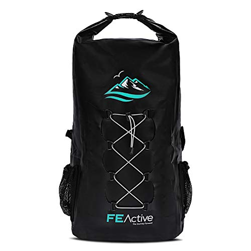 FE Active Dry Bag Waterproof Backpack - 30L Eco Friendly Bag for Men & Women for Fishing, Travel, Hiking, Beach & Survival Gear. Storage for Camera & Camping Accessories. | Designed in California, USA