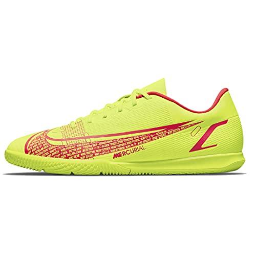 Nike Unisex Vapor 14 Club IC Soccer Shoe, Volt/Bright Crimson, 42 EU