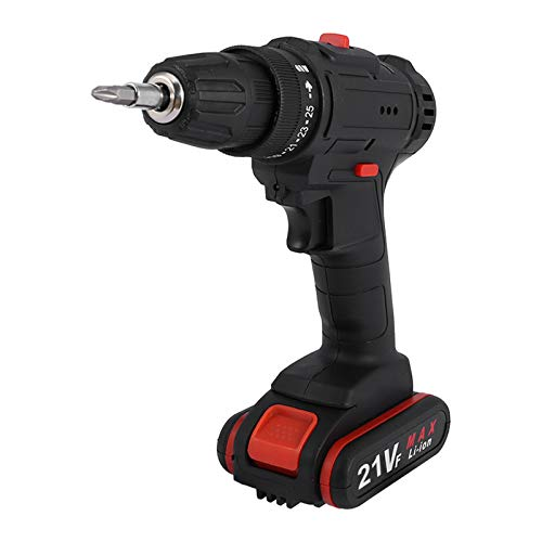 21V 1.3Ah Lithium-Ion Cordless Electric Screwdriver Drill Driver Power Tool Set