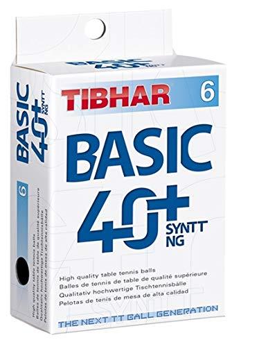 Tibhar Table Tennis Balls Basic 40+ SYNTT NG (Pack of 6)