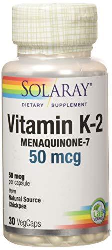 Solaray Vitamina K-2 50mcg   Menaquinone-7   30 VegCaps