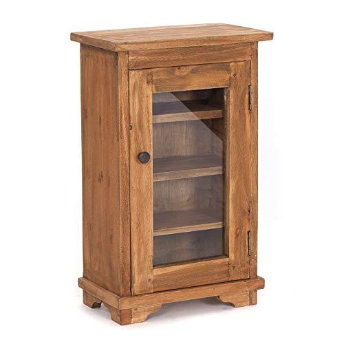 Vintage MEDICIJNKASTJE Naturel | 57x35x21 cm (HxBxD), massief oud hout | vitrine, medicijnkastje