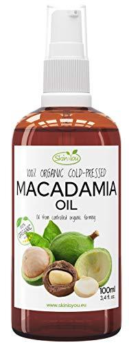 Macadamia Öl 100% Rein & Natürlich Kaltgepresst 100ml - Außergewöhnliche regenerative Eigenschaften - Perfekt aufgenommen u. vertragen - Perfekt weiche und glatte Haut