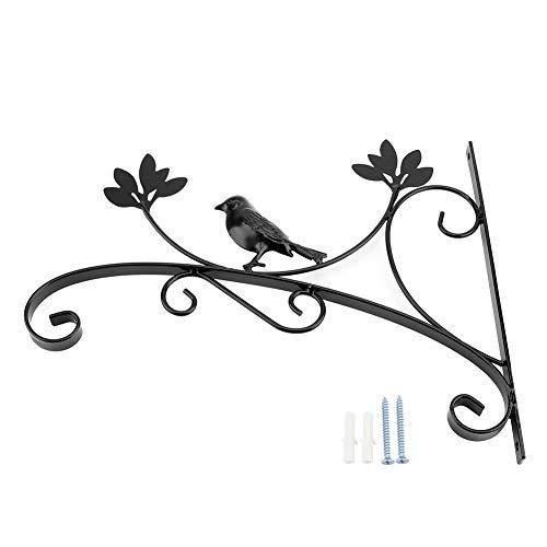 Eisen-Anlage Hook, MAGT Wandbehang Pflanzen Bracket Schmiedeeisen Hanging Flower Haken Dekorative Pflanze Wandhalter mit Schrauben for Pflanzenkübel, Laternen, Wind Chimes