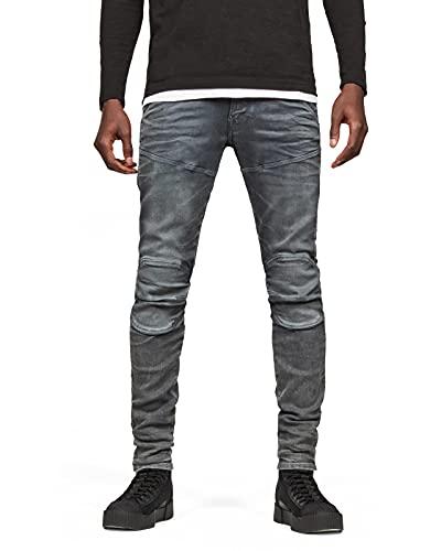 G-STAR RAW 5620 Elwood 3D Skinny Jeans, Grigio (Dk Aged Cobler 7863-3143), 35W / 38L Uomo