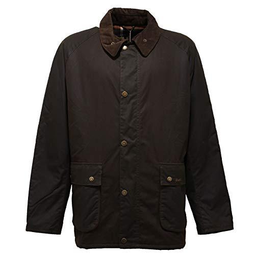 Barbour 1761AC Giubbotto Uomo Inserti Velluto Waxed Brown Jacket Men [XL]