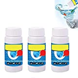 YMSM Pipe Dredge Deodorant,Magic Bubble Bombs,Powerful Sink and Drain Cleaner,Fast Foaming Pipe Cleaner ,Deodorant,3pcs Strong Cleaning Agent ,For Kitchen Toilet Pipeline Quick Cleaning Tool