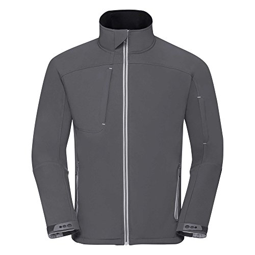 Russell r410m-ir-2X L Herren BIONIC Softshell Jacke, 2X Große Größe, Eisen grau