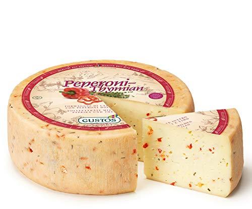 Paprika-Thymian-Käse von Gustos, 2,2 KG ca, Thymian und Paprika machen aus diesem halbfesten Schnittkäse aus Kuhmilch einen unwiderstehlichen Hochgenuss