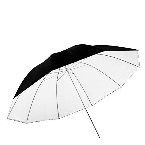 Neewer - Ombrello rimovibile per fotografia, 150 cm, colore bianco convertibile, con copertura nera rimovibile e retro riflettente argento