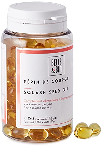 Belle&Bio Huile de Pépin de Courge 500 Mg/Capsule pour Homme 120 Capsules