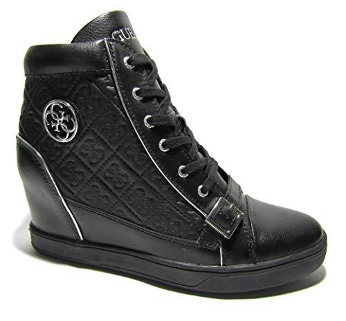Guess FLIOE1LEA12 - Zapatillas deportivas para mujer con cuña entera, color negro Size: 41 EU