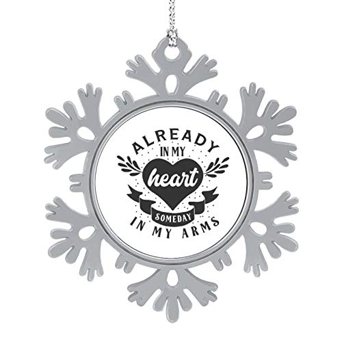 Christmas Ornaments 2020, 3'' Snowflake Meatal Ornament Already in My Heart Someday Black Home Hanging Decor for Xmas Tree Christmas Tree Decorations